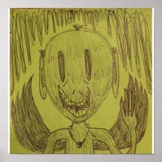 Poster Alien de ondulation avec des ailes