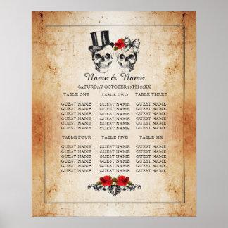 Poster Allocation des places d'affiche de mariage de plan