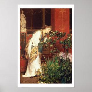 Poster Alma-Tadema | dans le Peristylum, 1866