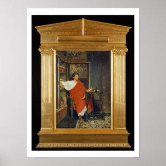 Poster Alma-Tadema   expéditions romaines d'une écriture
