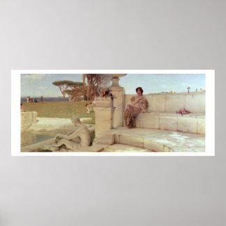 Poster Alma-Tadema | la voix de Spring, 1908