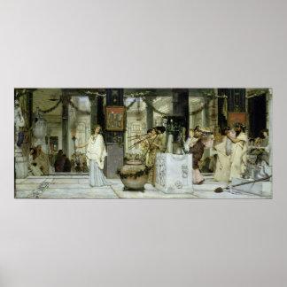 Poster Alma-Tadema | le festival vintage à Rome antique