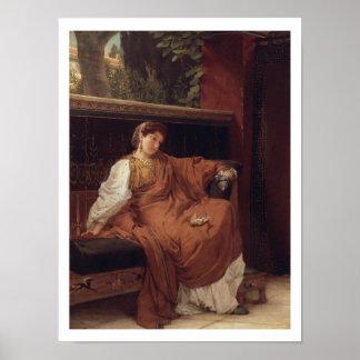 Poster Alma-Tadema | Lesbia pleurant au-dessus d'un