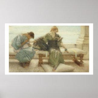 Poster Alma-Tadema | ne me demandent pas plus, 1886