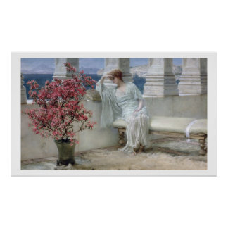 Poster Alma-Tadema | ses yeux sont avec son thoughts�