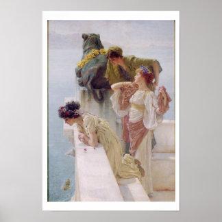 Poster Alma-Tadema | un Coign d'avantageux, 1895
