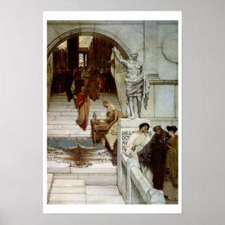 Poster Alma-Tadema | une assistance chez Agrippa, 1875