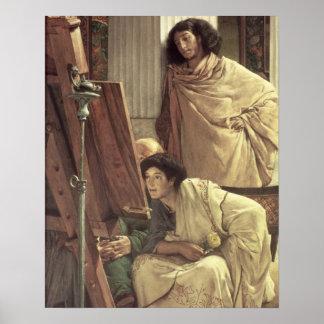 Poster Alma-Tadema   une visite au studio, 1873