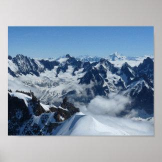 Poster Alpes français Chamonix Mont Blanc