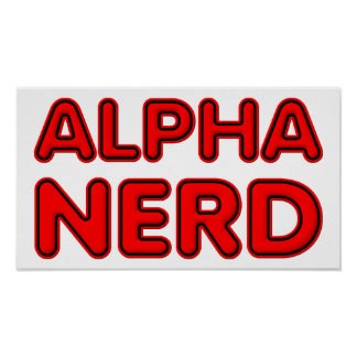 Poster Alpha affiche drôle nerd