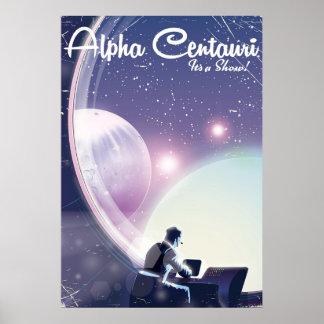 Poster Alpha Centurai, son une exposition, affiche de