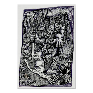 Poster Alpha guerrier, par Brian Benson