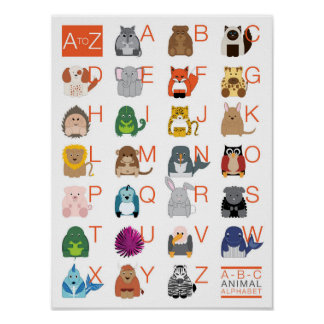 Poster Alphabet animal