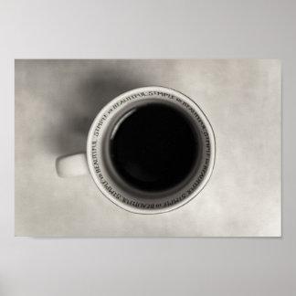 Poster amant de café