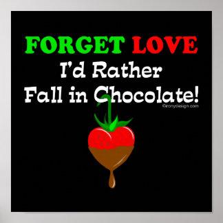 Poster Amants de chocolat