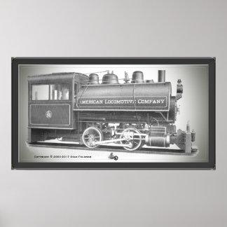 Poster American Locomotive Company 0-4-0 T