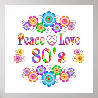 Poster amour de la paix 80s