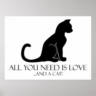 Poster Amour et un chat