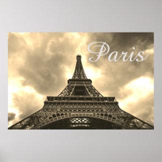 Poster Amour romantique de Paris de Tour Eiffel vintage