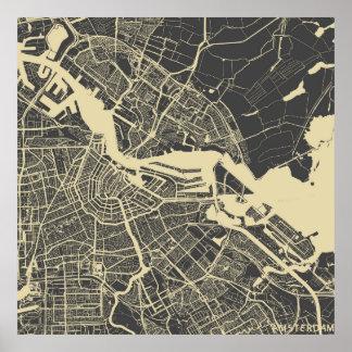 Poster Amsterdam map