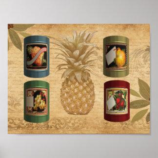 Poster Ananas conserve de fruits