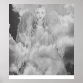 Poster Ange dans les nuages