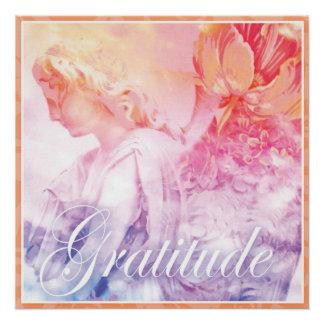 Poster Ange de gratitude - comptez vos bénédictions
