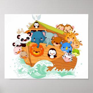 Poster Animaux sur l'affiche d'art de Noahs