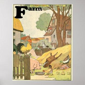 Poster Animaux sur le livre d'histoire d'alphabet de