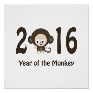 Poster Année du singe 2016