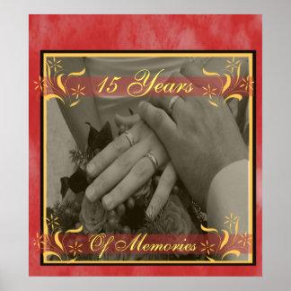 Poster Anniversaire de mariage