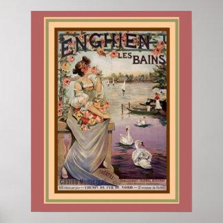 """Poster Annonce """"Enghien Les Bains"""" 16 x de Nouveau d'art"""