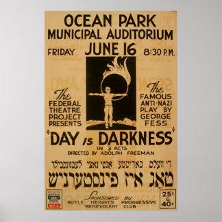 Poster Anti affiche 1939 Yiddish de WPA de cru de jeu