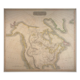 Poster Antique 1814 Map of North America