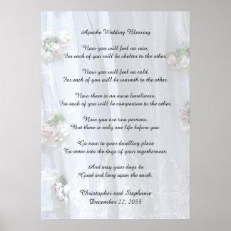 """Poster Apache épousant la bénédiction 20"""" x 28"""" dentelle"""