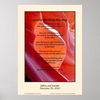 """Poster Apache épousant l'affiche 20"""" de bénédiction x 28"""""""