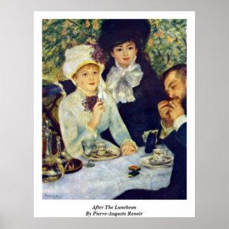 Poster Après le déjeuner par Pierre-Auguste Renoir