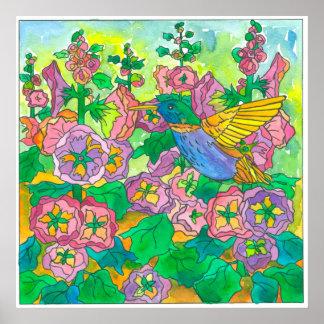 Poster Aquarelle de colibri