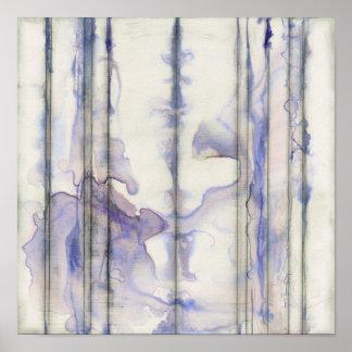 Poster Aquarelle libre d'expression de violette