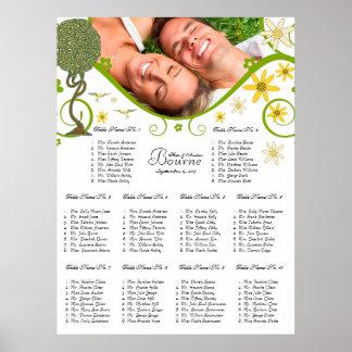 Poster Arbre floral enchanté de conte de fées de