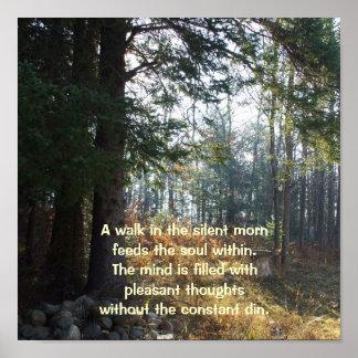 Poster Arbres dans un poème Matin-Curatif d'automne tôt