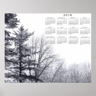 Poster arbres Neige-couverts : Copie horizontale de 2018