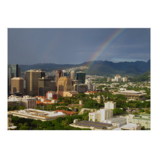 Poster Arc-en-ciel de Honolulu