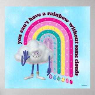 Poster Arc-en-ciel de type de nuage des trolls  