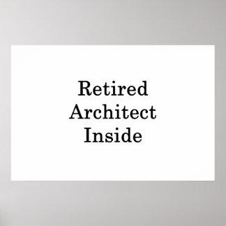 Poster Architecte retraité à l'intérieur