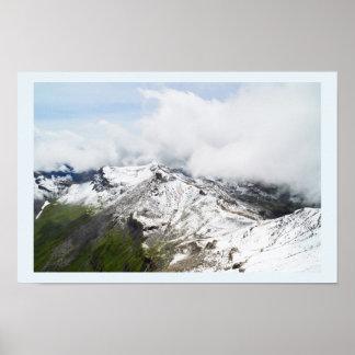 Poster Arête de montagne dans les alpes suisses