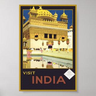 Poster Art classique d'affiche de visite de voyage
