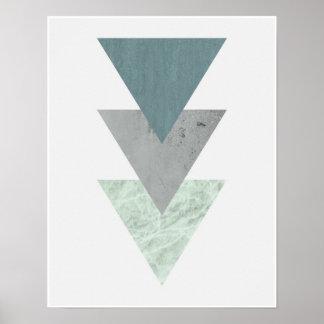Poster Art côtier scandinave géométrique de triangle de