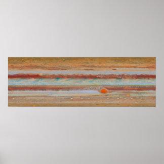 Poster Art d'affiche de la surface | de Jupiter