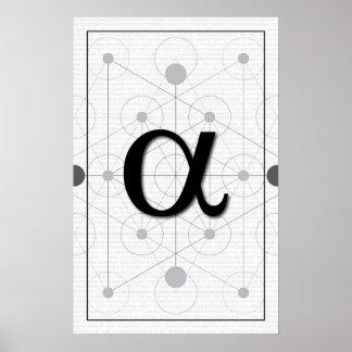 Poster Art de maths - alpha